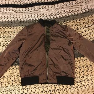 Mans reversible bomber jacket.